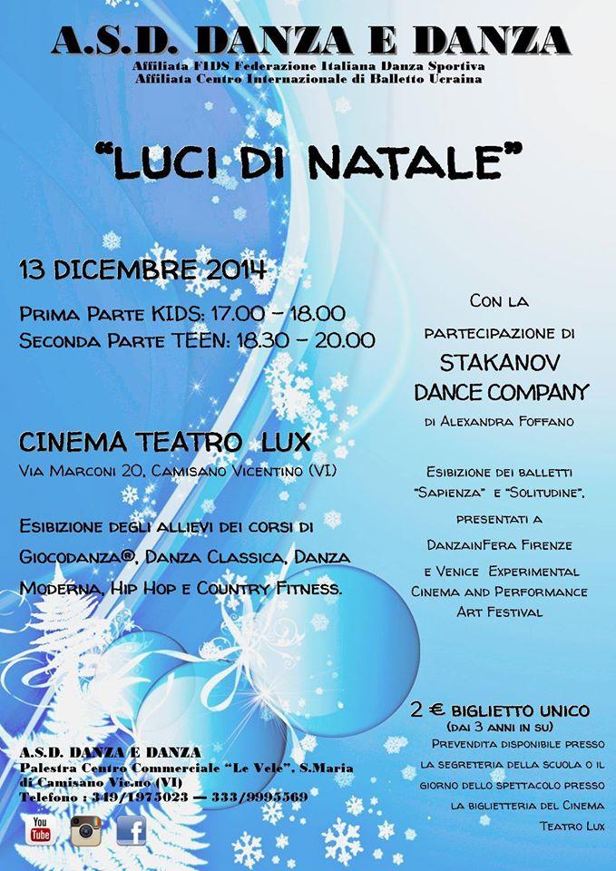 """Spettacolo di Danza """"Luci di Natale"""" 2014"""