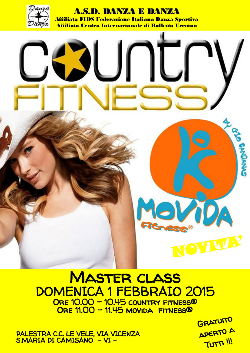 Masterclass COUNTRY FITNESS® e MOVIDA FITNESS®