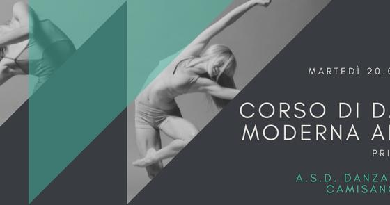 Corso di danza moderna adulti principianti – Settembre 2017
