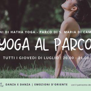Yoga al Parco a Camisano Vicentino, Luglio 2019